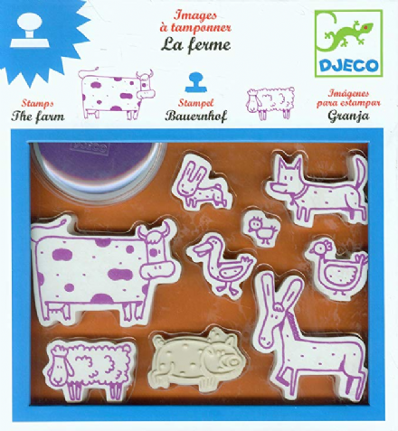 Djeco Farm Stamps - Art Set